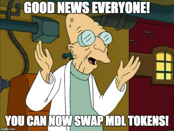 Early MDL investors can now swap their waves tokens!