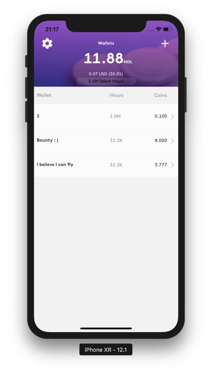 MDL IOs Wallet new wallet step 2